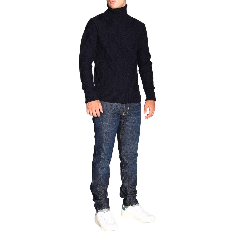 Pullover herren Paolo Pecora blau 2