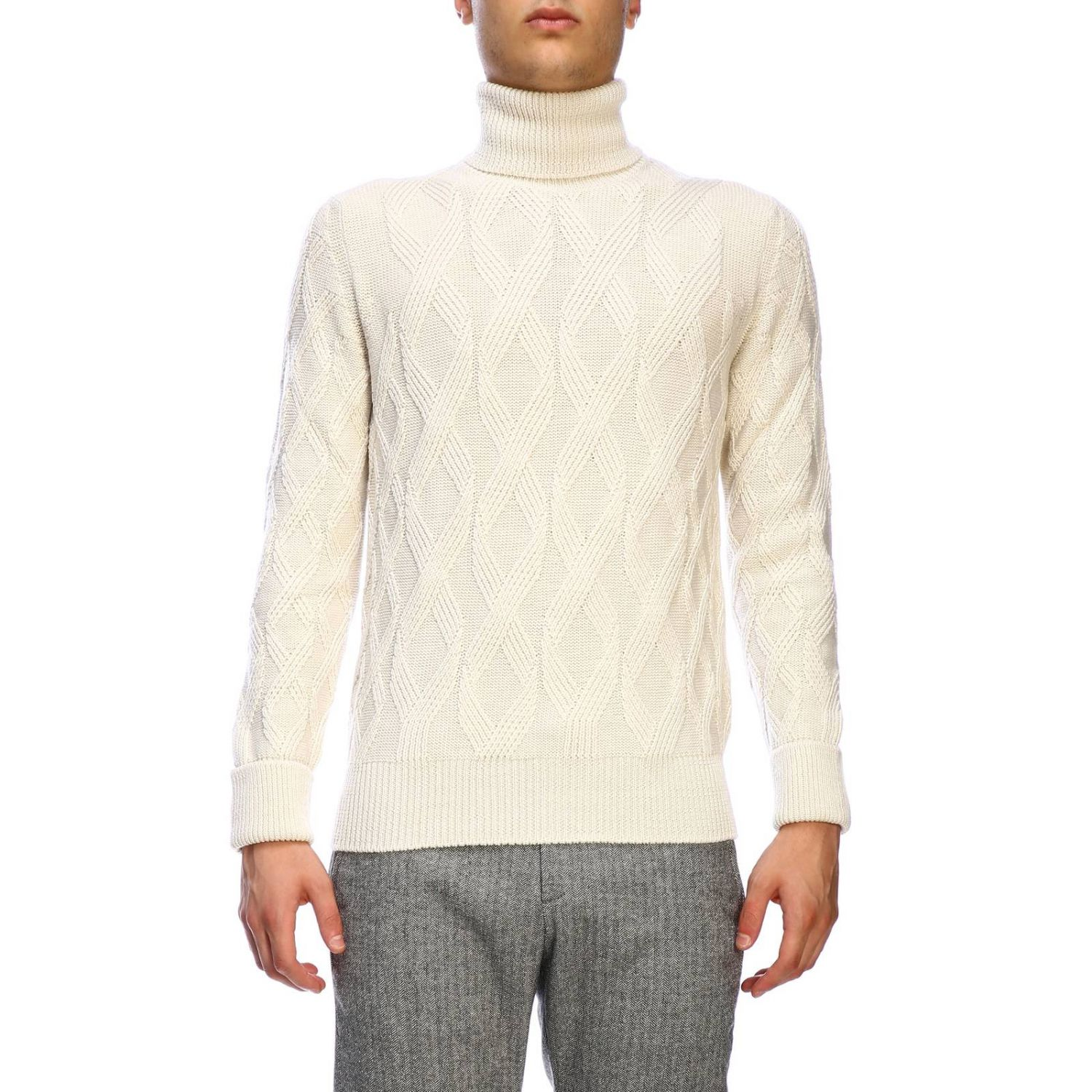 Sweater men Paolo Pecora yellow cream 1