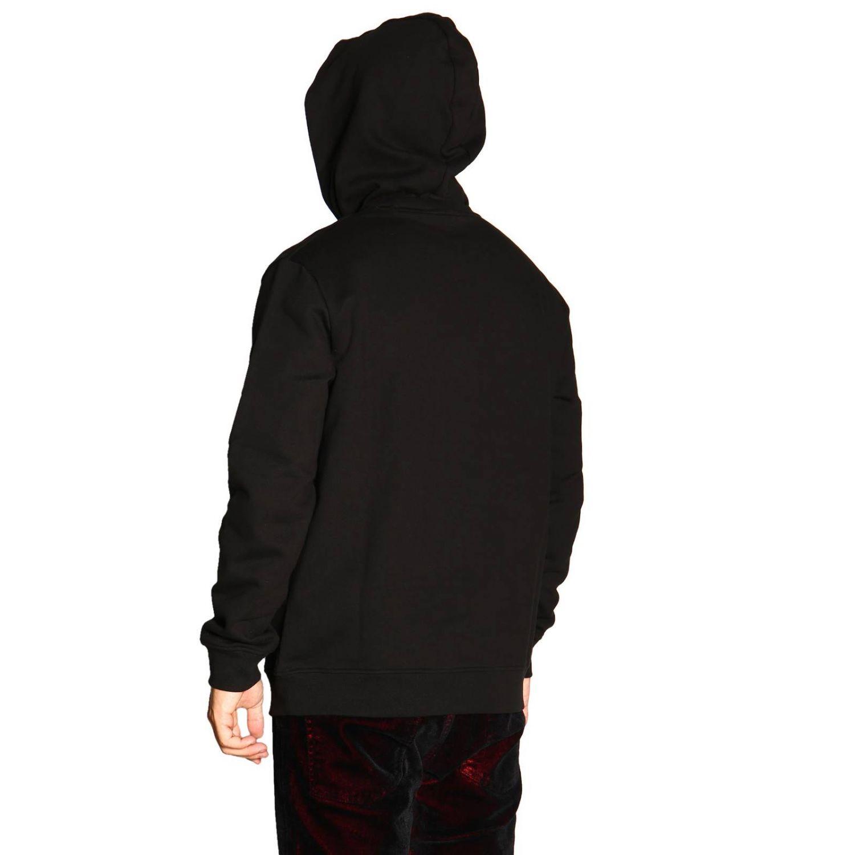 Felpa N°21 con cappuccio e logo nero 3