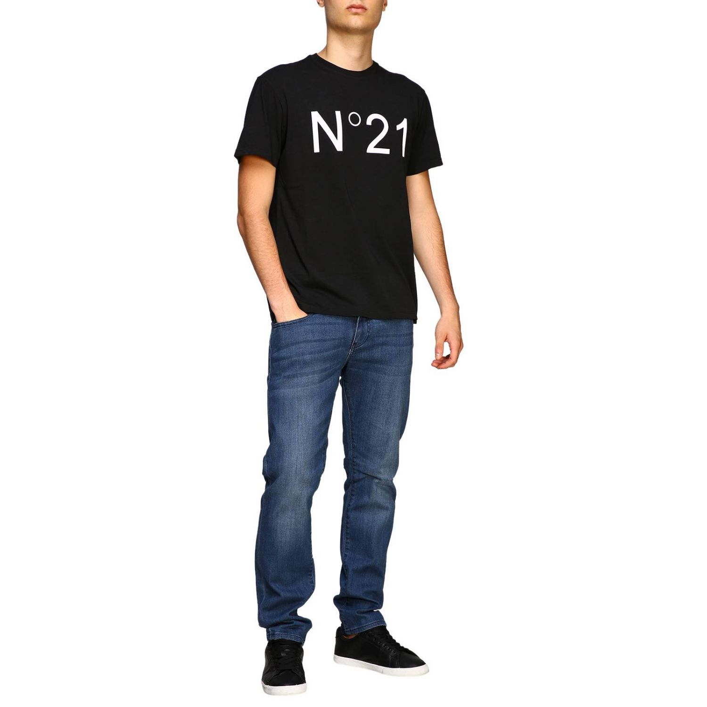 T-shirt herren N° 21 schwarz 2