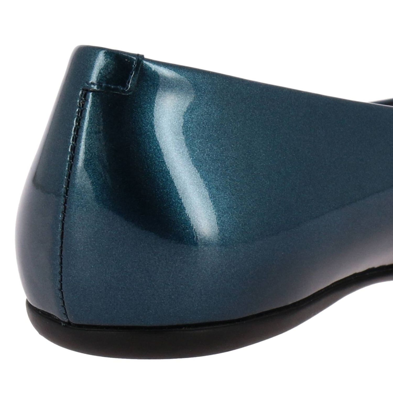 Roger Vivier金属感漆皮RV塑料扣Gommette芭蕾舞鞋 蓝色 4