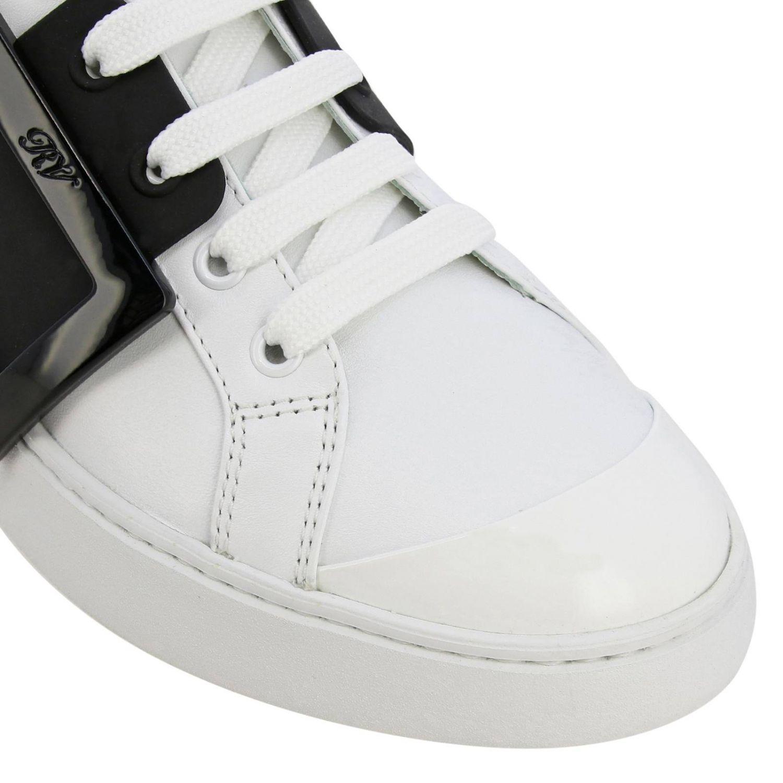 Спортивная обувь Roger Vivier: Кроссовки Viv' skate Roger Vivier из кожи с макси-пряжкой белый 3