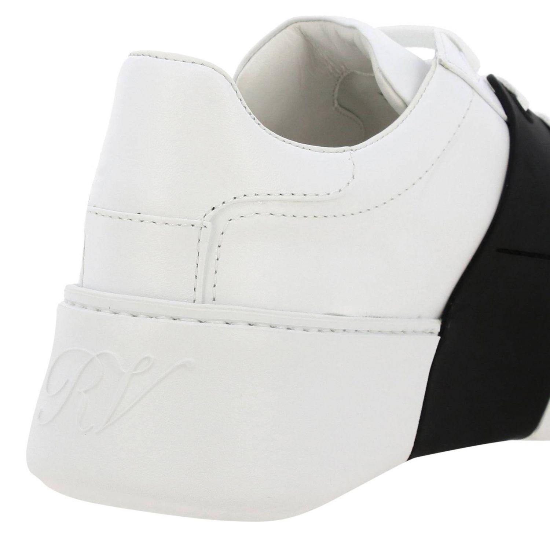Спортивная обувь Roger Vivier: Кроссовки Viv' skate Roger Vivier из кожи с макси-пряжкой белый 4