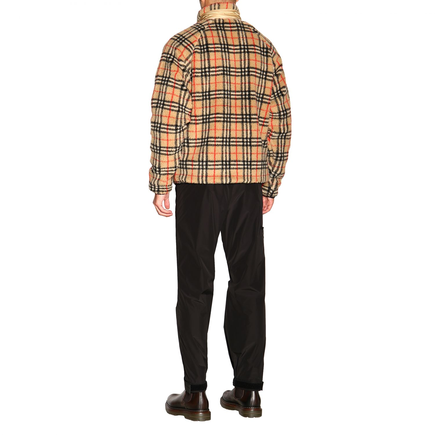 Giacca Burberry: Bomber Burberry in orsetto check beige 3