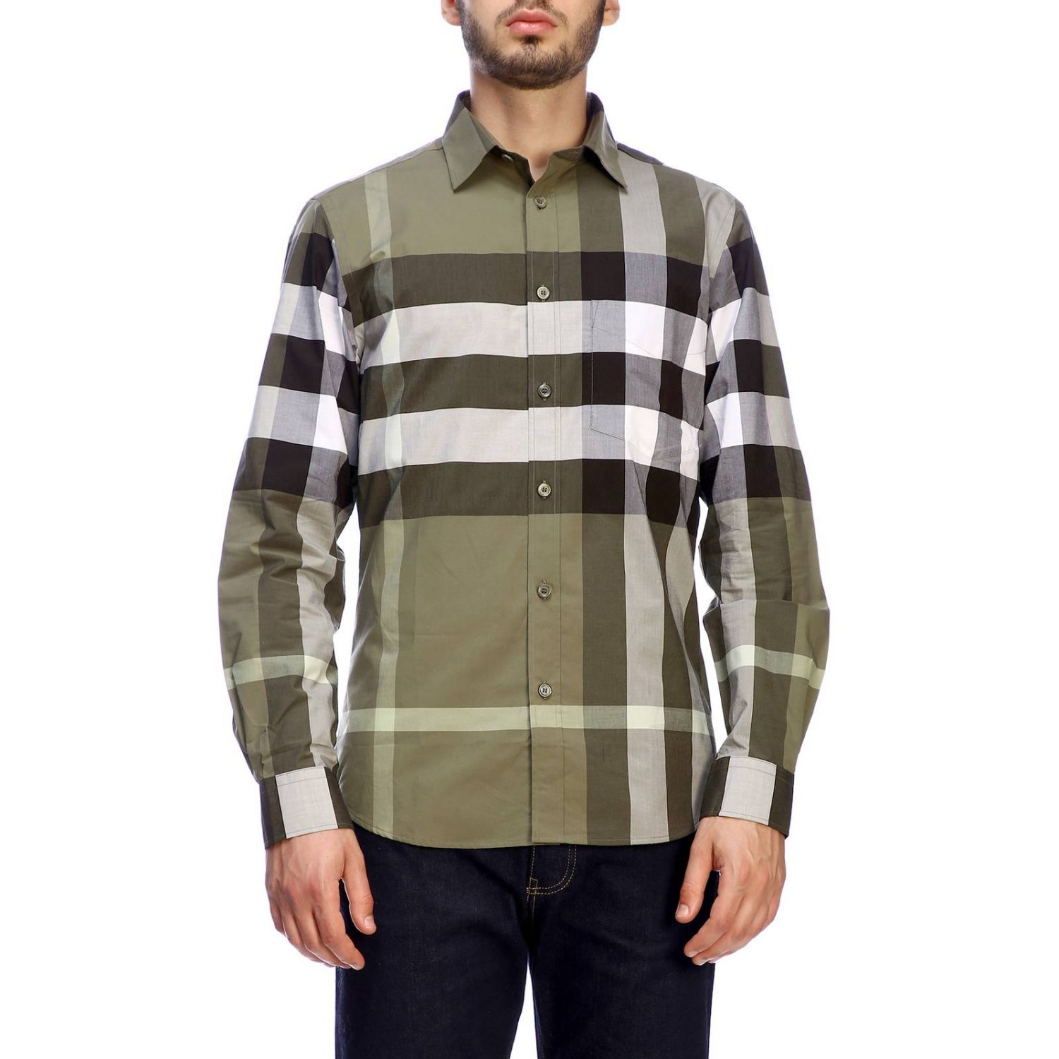 Burberry slim macro check shirt military 1
