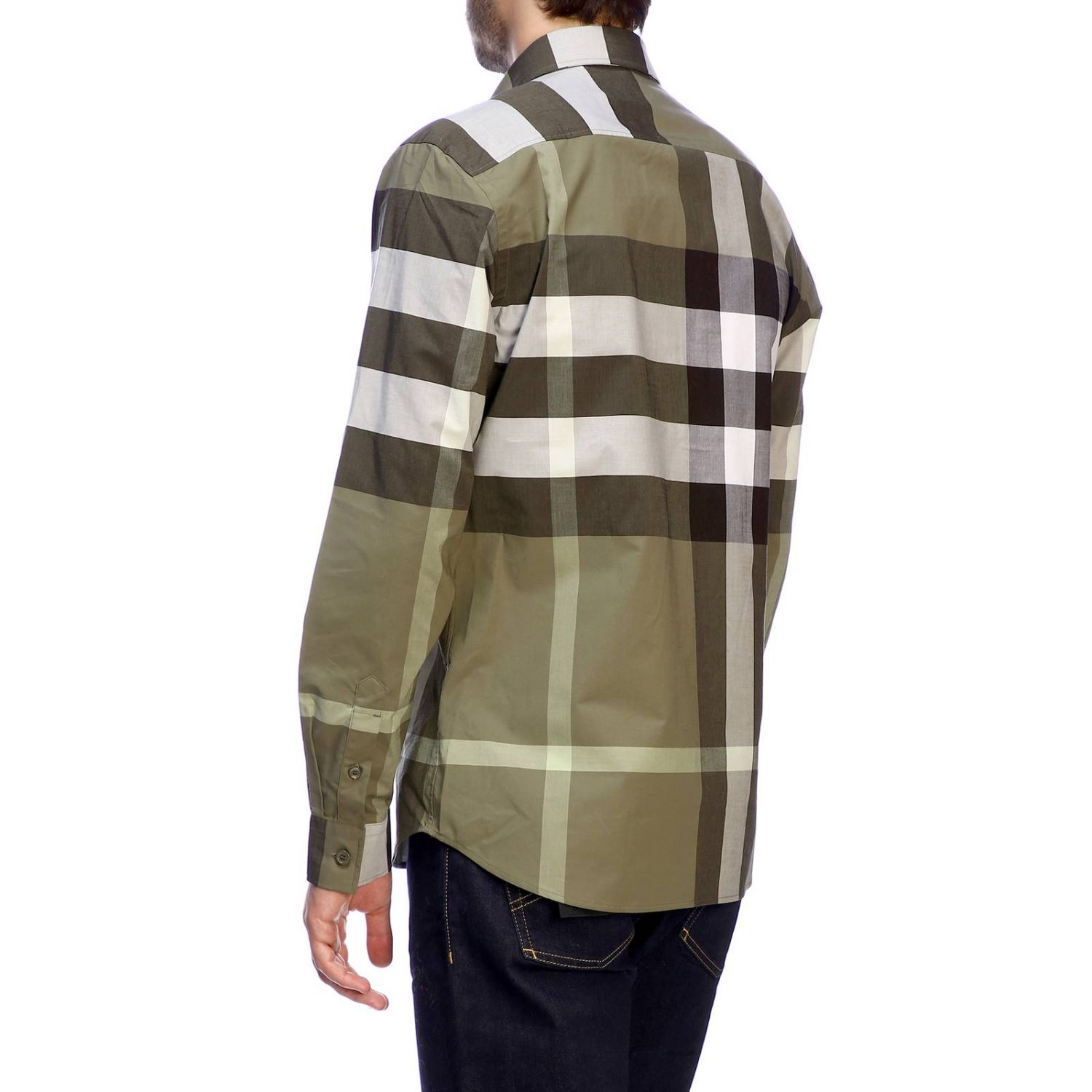 Burberry slim macro check shirt military 3