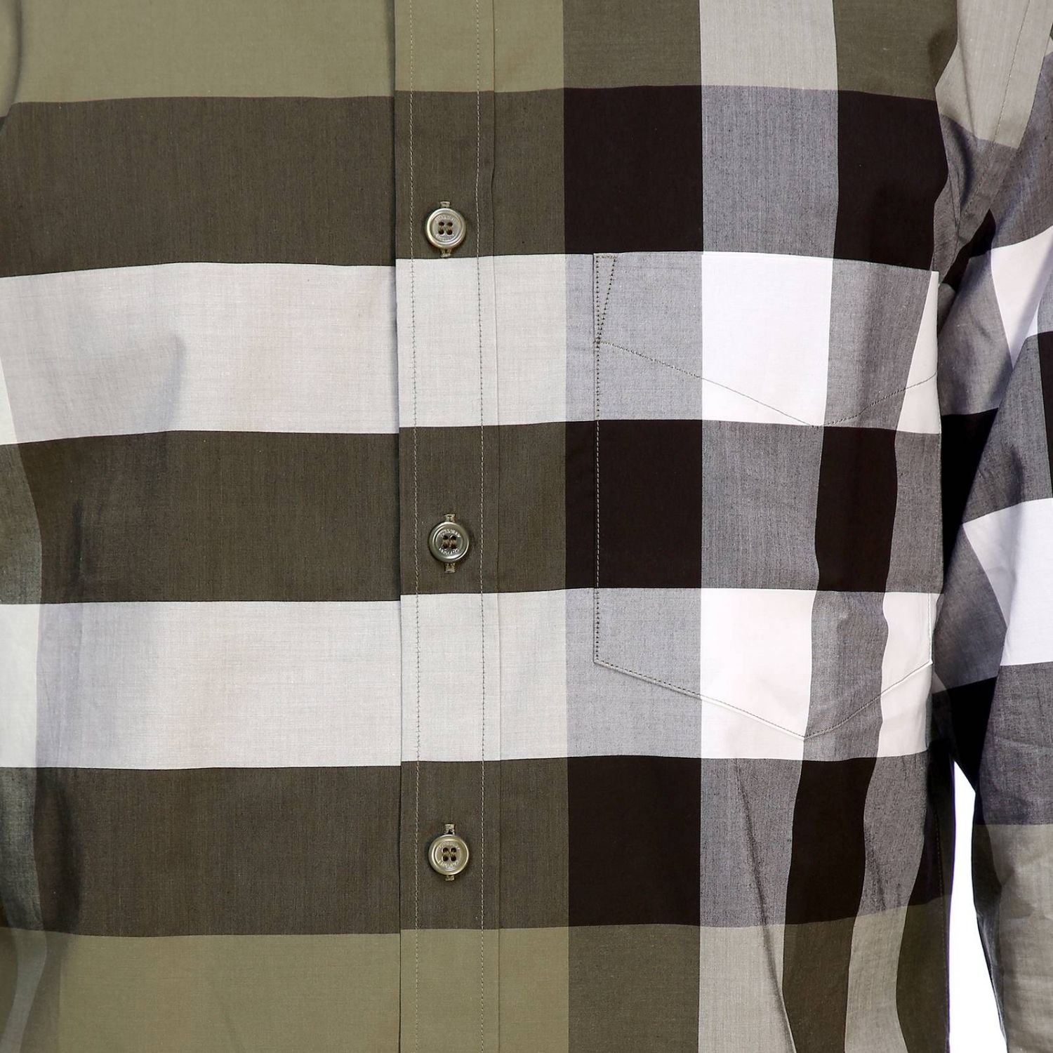 Burberry slim macro check shirt military 4
