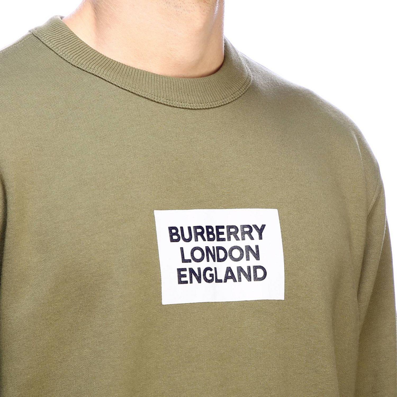 Sudadera de cuello redondo con el logo de Burberry London England maxi militar 4