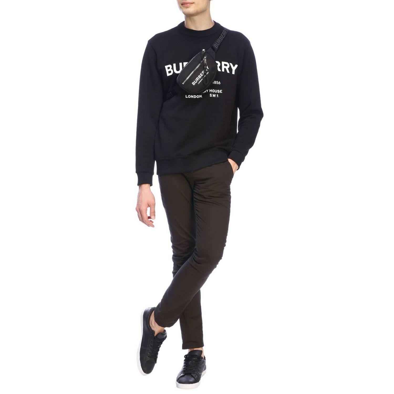 Jumper Burberry: Crewneck sweatshirt with Burberry lettering black 2