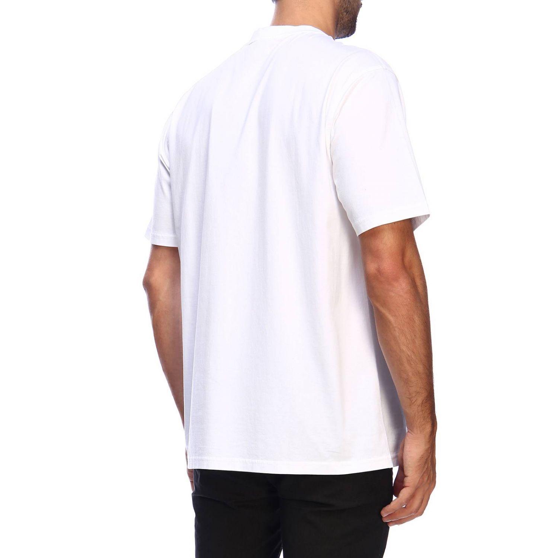 T-shirt a girocollo con maxi logo tb Burberry stampato bianco 3