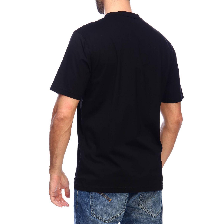 T-shirt Burberry: T-shirt a girocollo con maxi logo tb Burberry stampato nero 3