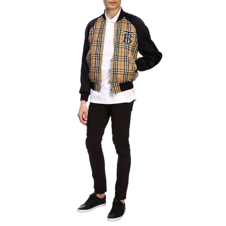 T-shirt Burberry: Polo basic a maniche corte con ricamo TB Burberry bianco 2