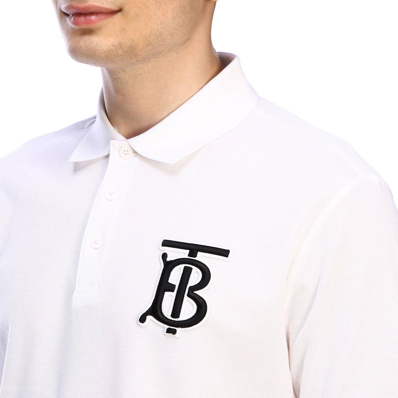 T-shirt Burberry: Polo basic a maniche corte con ricamo TB Burberry bianco 4