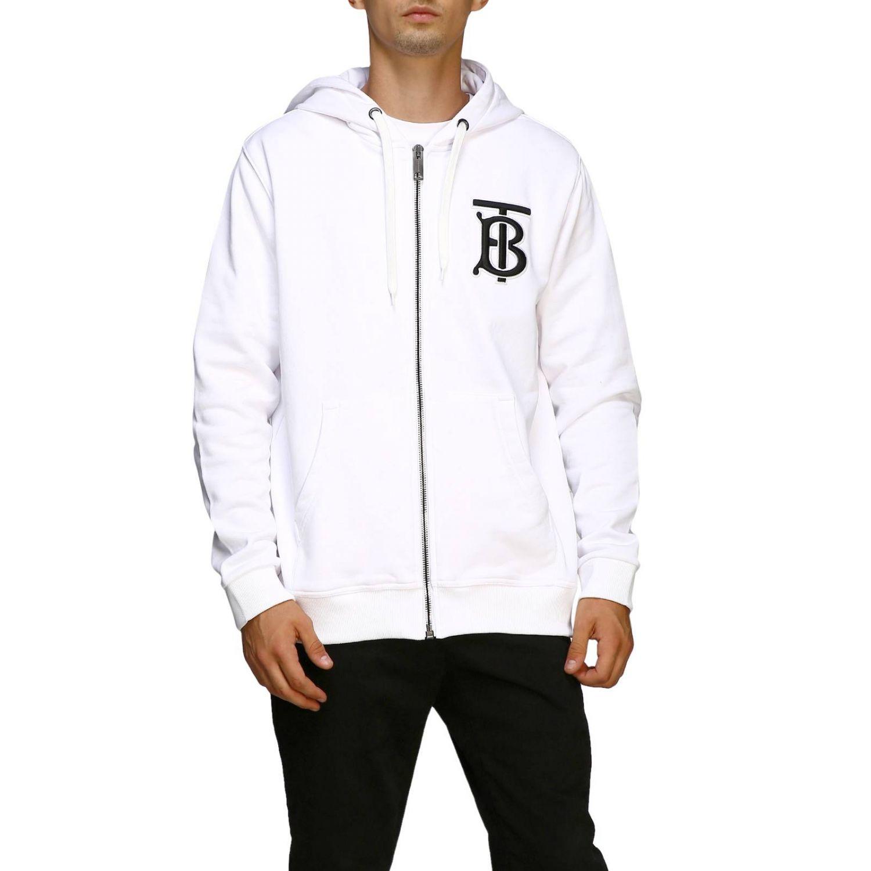 Sweater men Burberry white 1