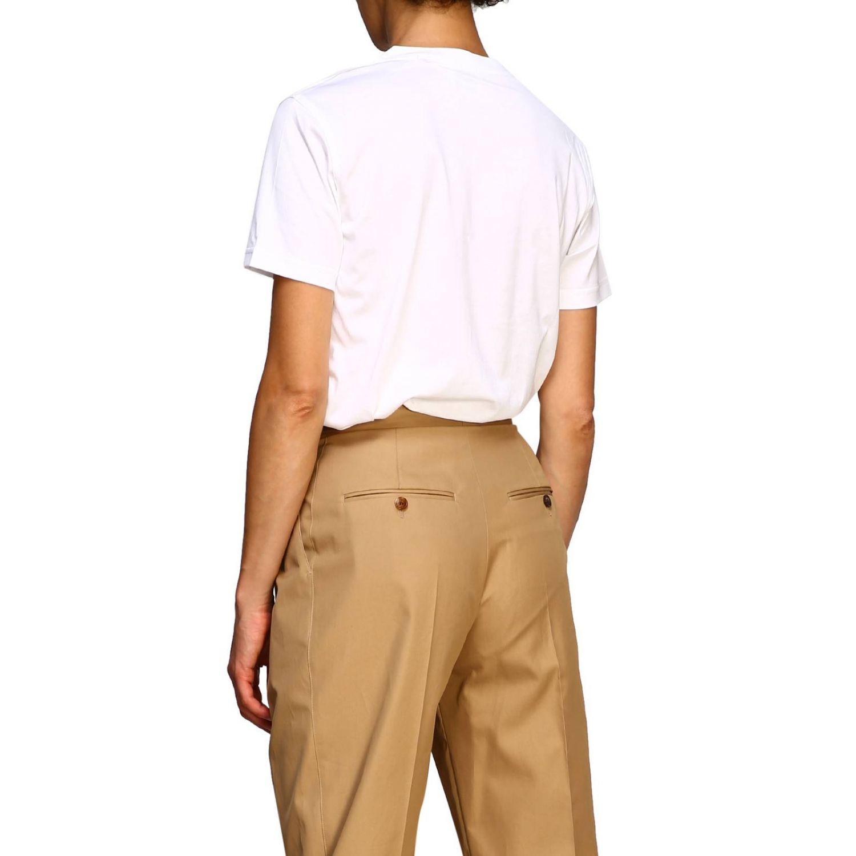 T-shirt con maxi logo Burberry bianco 3