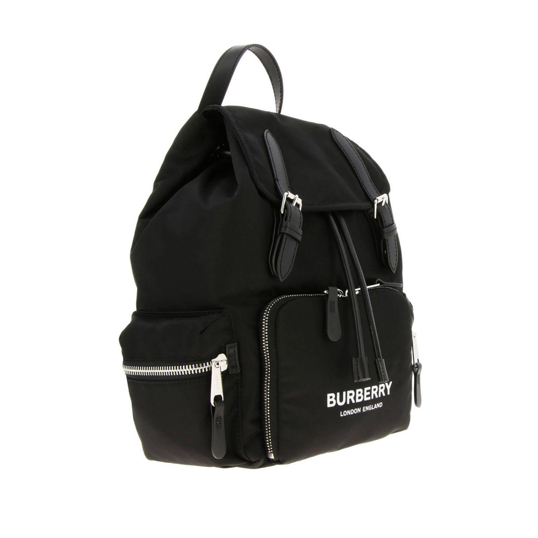 Medium Rucksack aus Nylon mit Burberry Aufdruck schwarz 3