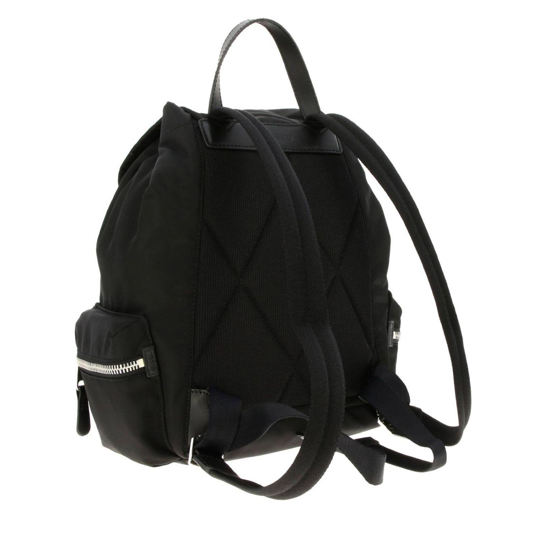 Medium Rucksack aus Nylon mit Burberry Aufdruck schwarz 4