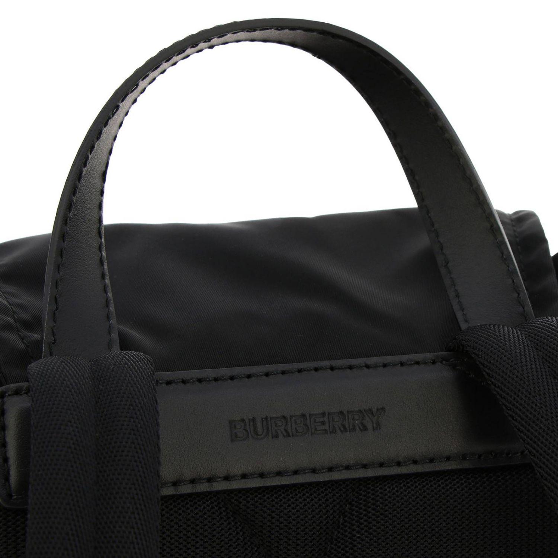 Medium Rucksack aus Nylon mit Burberry Aufdruck schwarz 5