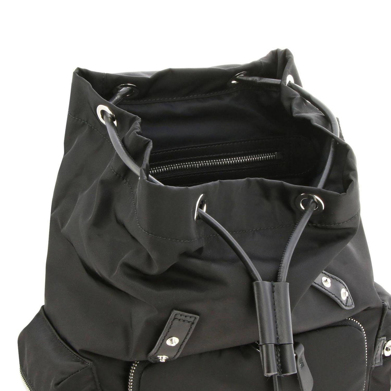 Medium Rucksack aus Nylon mit Burberry Aufdruck schwarz 6