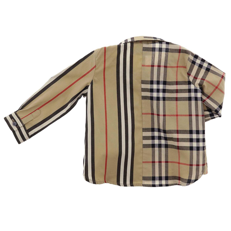 Camicia classic check e righe Burberry Infant beige 2