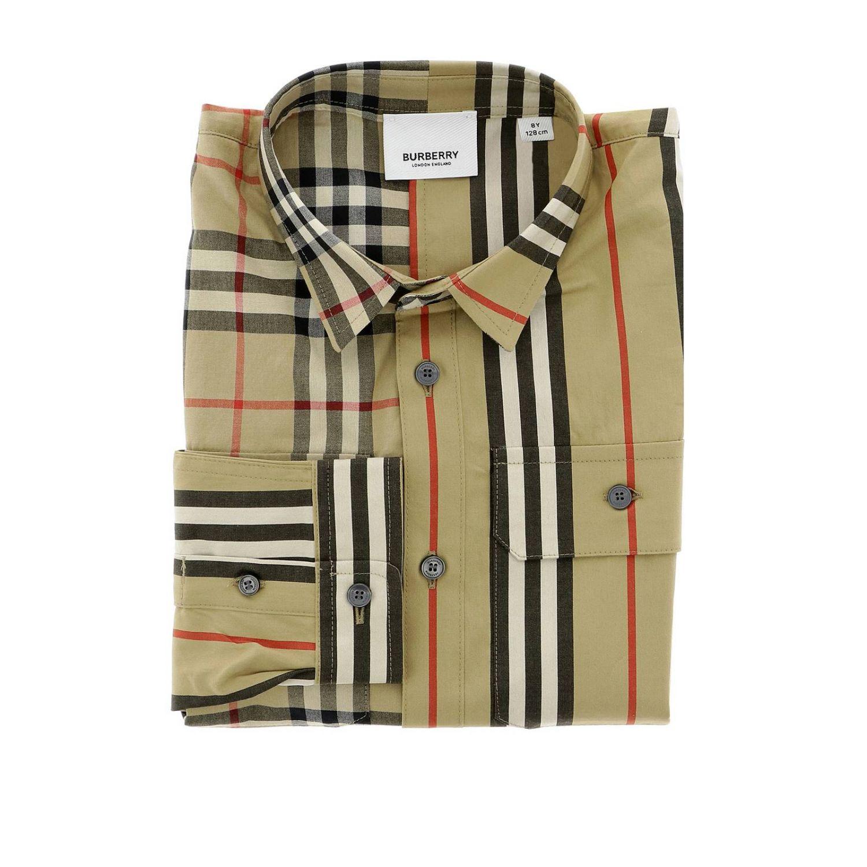 Camicia classic check Burberry a maniche lunghe beige 1