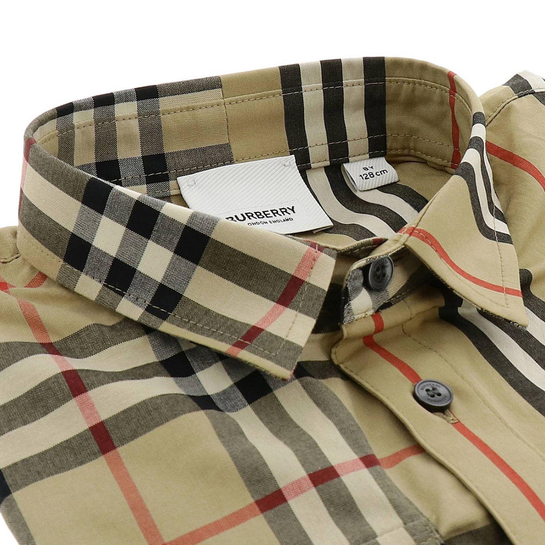 Camicia classic check Burberry a maniche lunghe beige 2