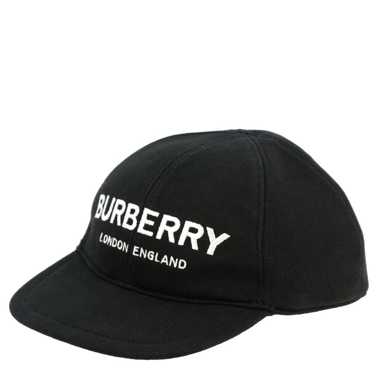 Cappello Burberry stile Baseball con logo nero 1
