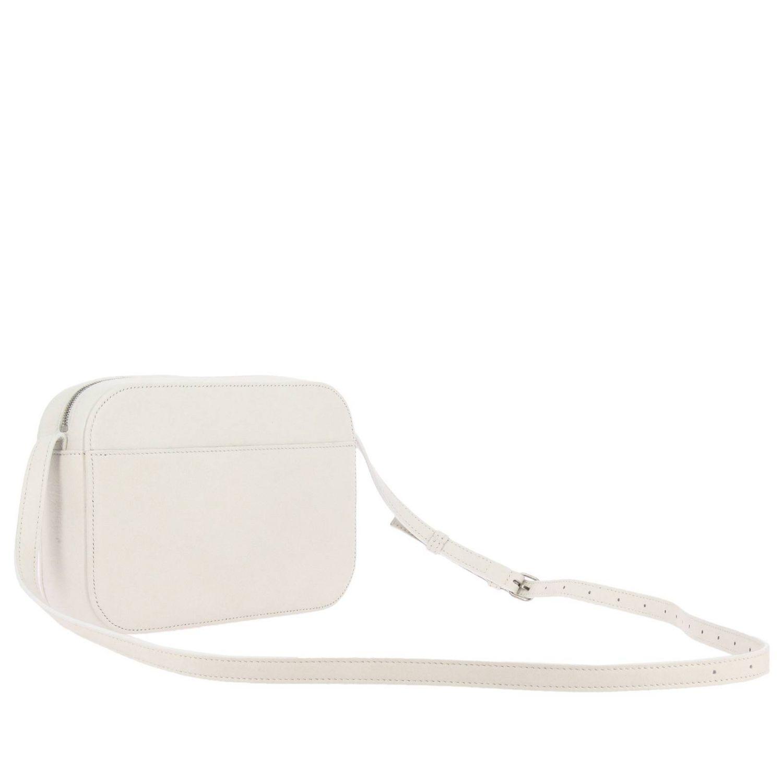 Borsa Everyday camera bag S in pelle con stampa Balenciaga bianco 3