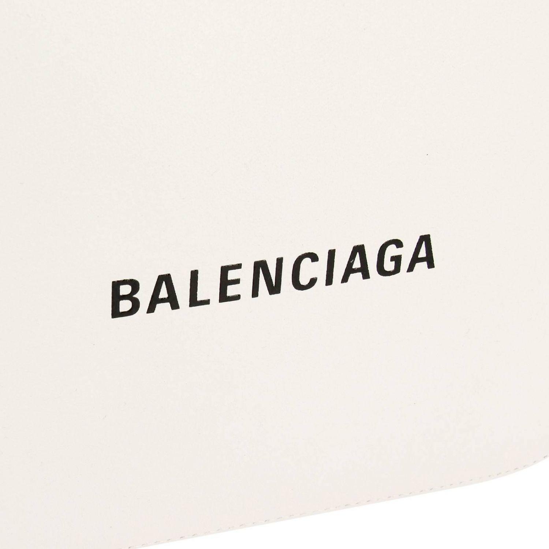 Borsa Everyday camera bag S in pelle con stampa Balenciaga bianco 4
