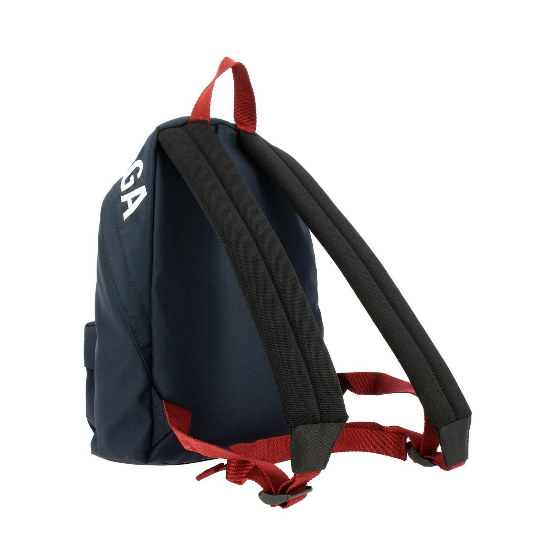 Рюкзак Wheel Balenciaga из нейлона с логотипом синий 4