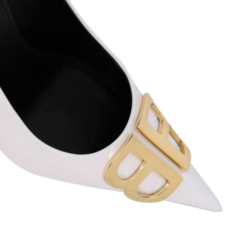 BB Balenciaga patent leather décolleté white 4