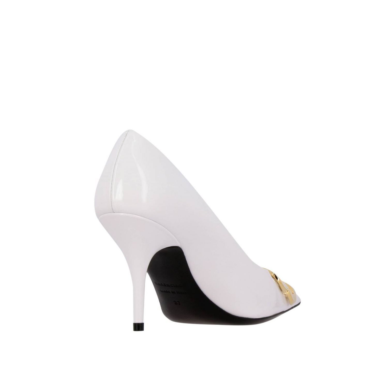 BB Balenciaga patent leather décolleté white 5