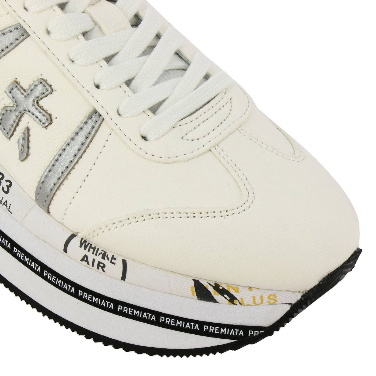 Beth Premiata sneakers in leather with maxi platform sole white 3