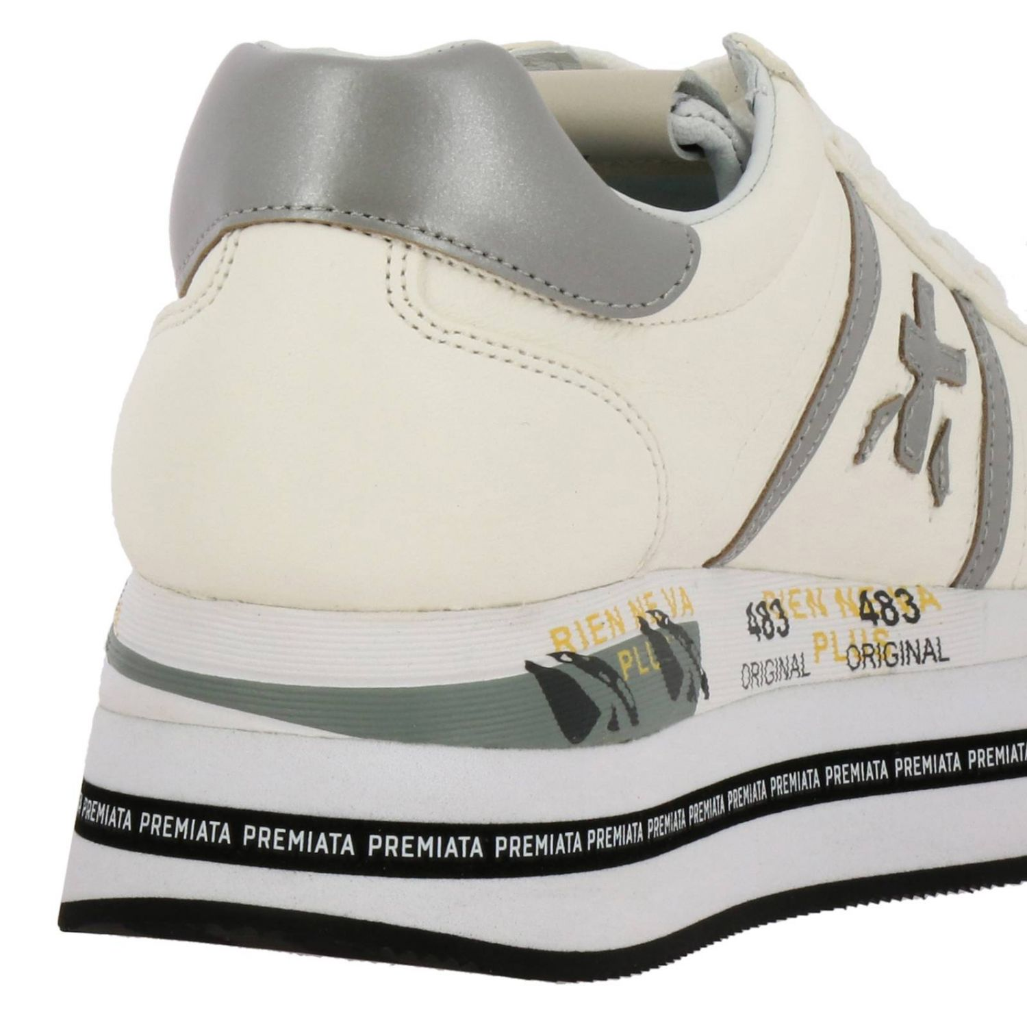 Beth Premiata sneakers in leather with maxi platform sole white 4