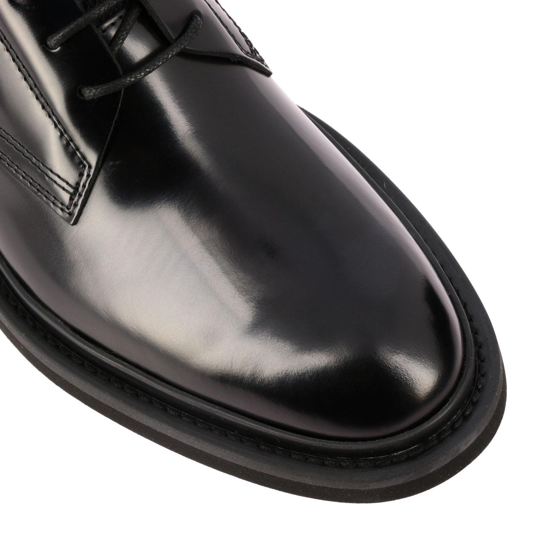 Fondo gomma derby pelle spazzolata con calzino neoprene nero 4