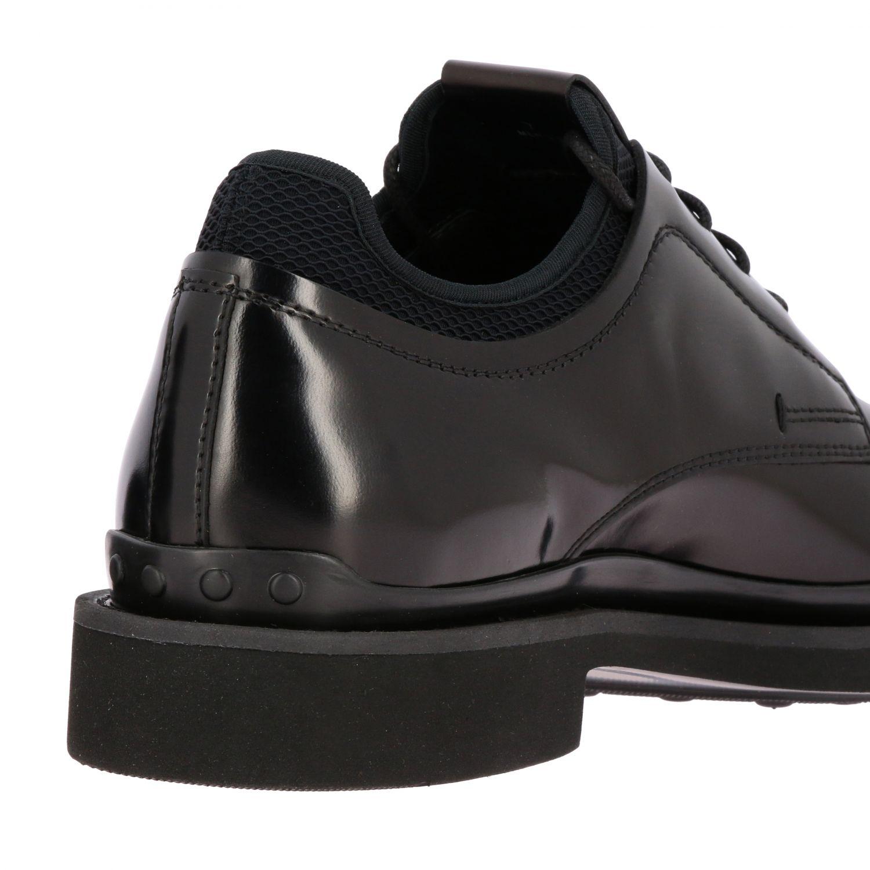 Fondo gomma derby pelle spazzolata con calzino neoprene nero 5