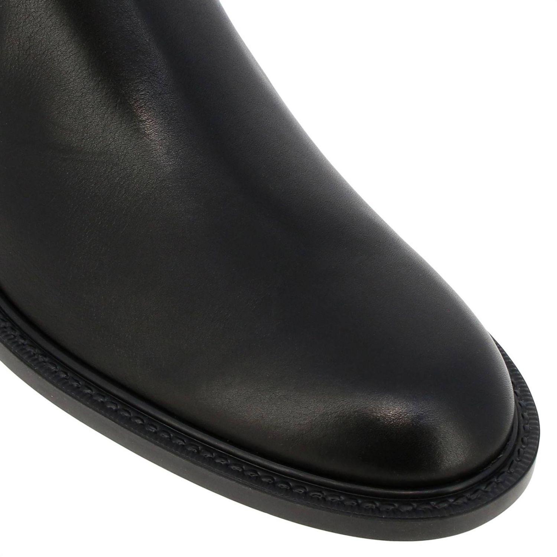 Stivaletto Tod's in pelle liscia con fasce elasticizzate e suola in gomma nero 3