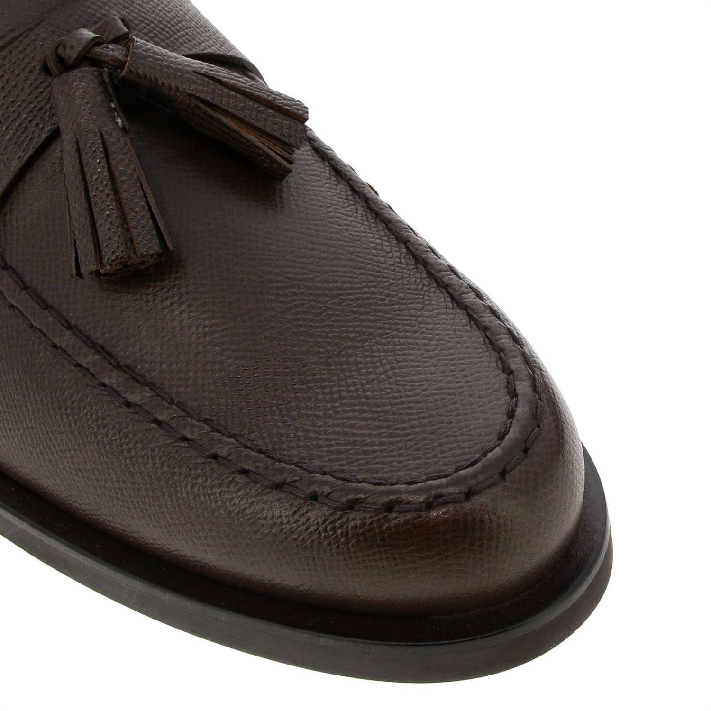 Mocasines Tods: Mocasines Tod's de cuero genuino saffiano con borlas marrón 3