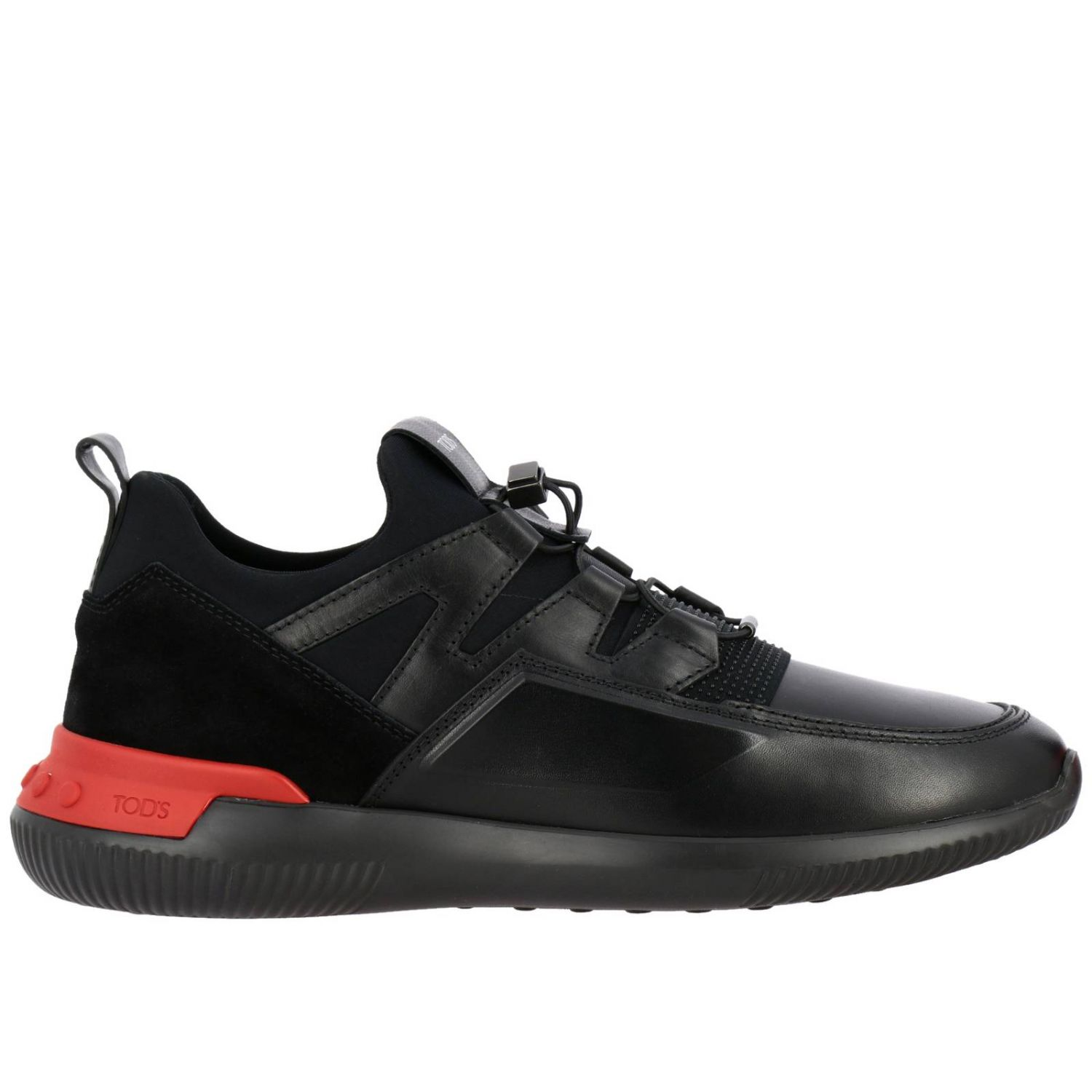 No code Active Sport Tod's sneakers in suede and neoprene leather with elastic laces black 1