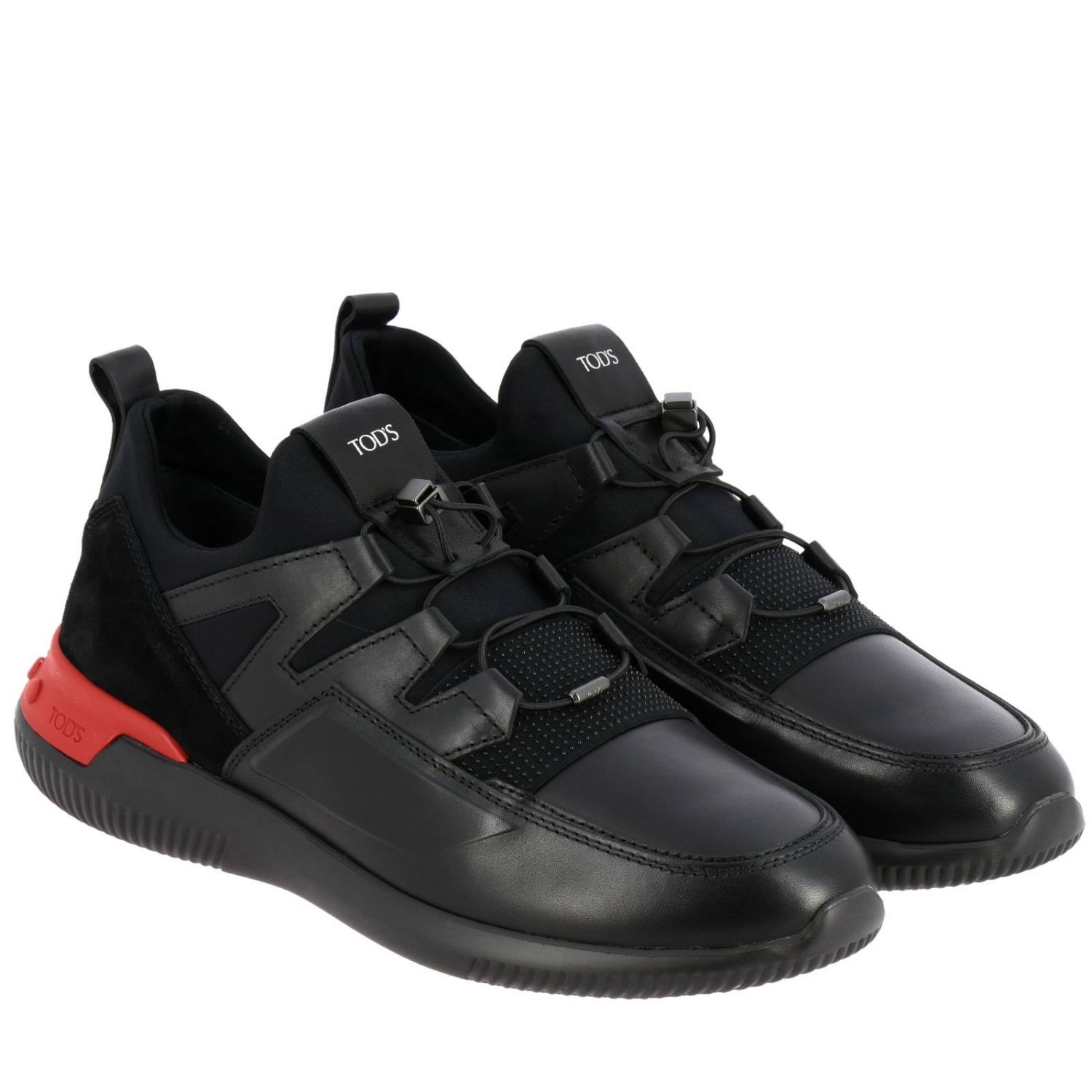 No code Active Sport Tod's sneakers in suede and neoprene leather with elastic laces black 2