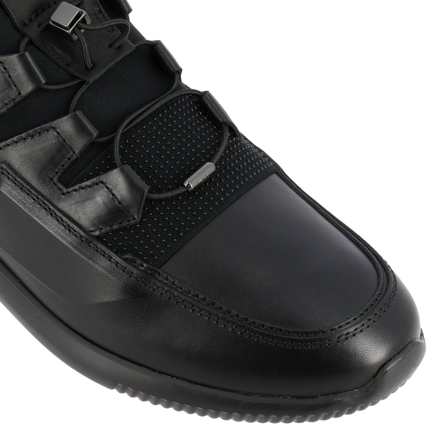 No code Active Sport Tod's sneakers in suede and neoprene leather with elastic laces black 3