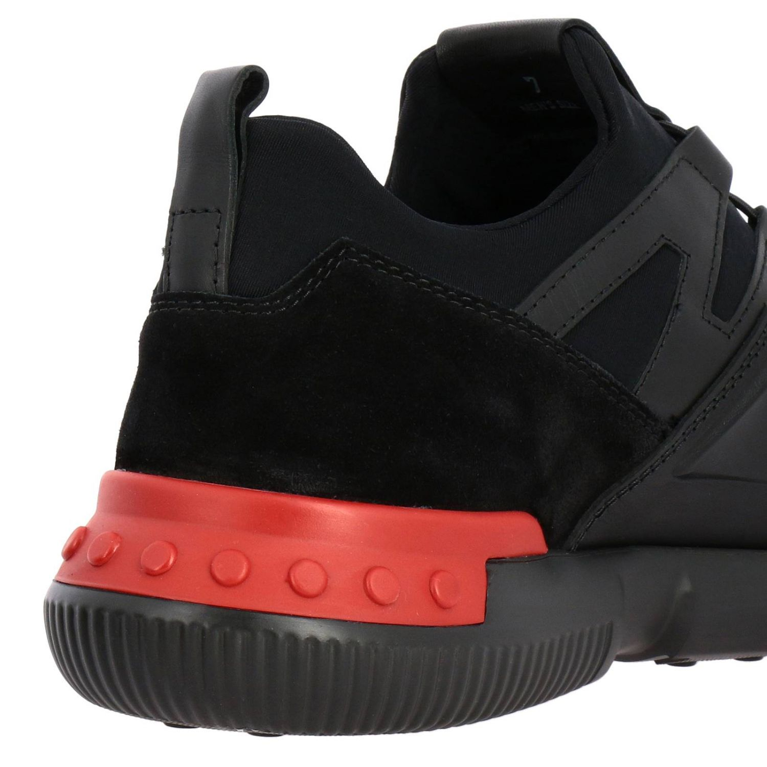 No code Active Sport Tod's sneakers in suede and neoprene leather with elastic laces black 4