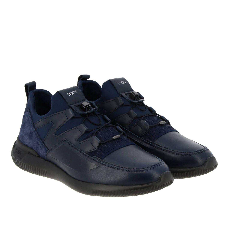 Sneakers Tods: Sneakers No code Active Sport Tod's in pelle camoscio e neoprene con lacci elasticizzati blue 2