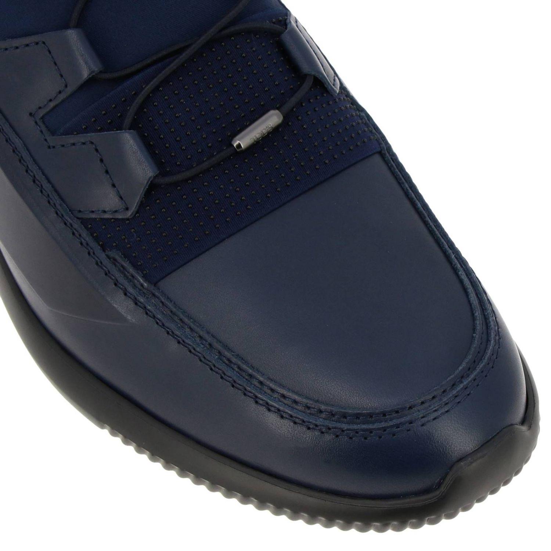 Sneakers Tods: Sneakers No code Active Sport Tod's in pelle camoscio e neoprene con lacci elasticizzati blue 3