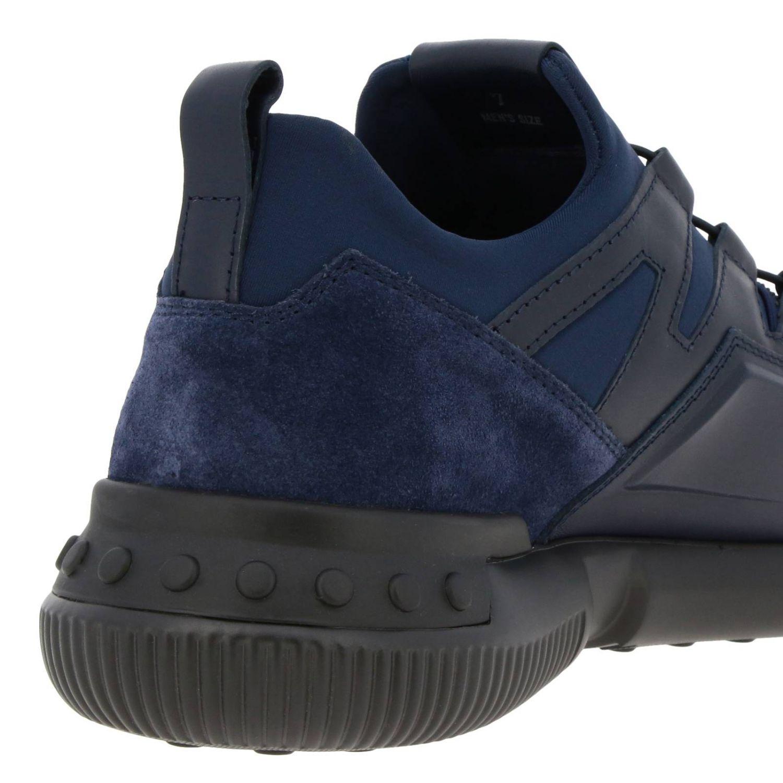 Sneakers Tods: Sneakers No code Active Sport Tod's in pelle camoscio e neoprene con lacci elasticizzati blue 4