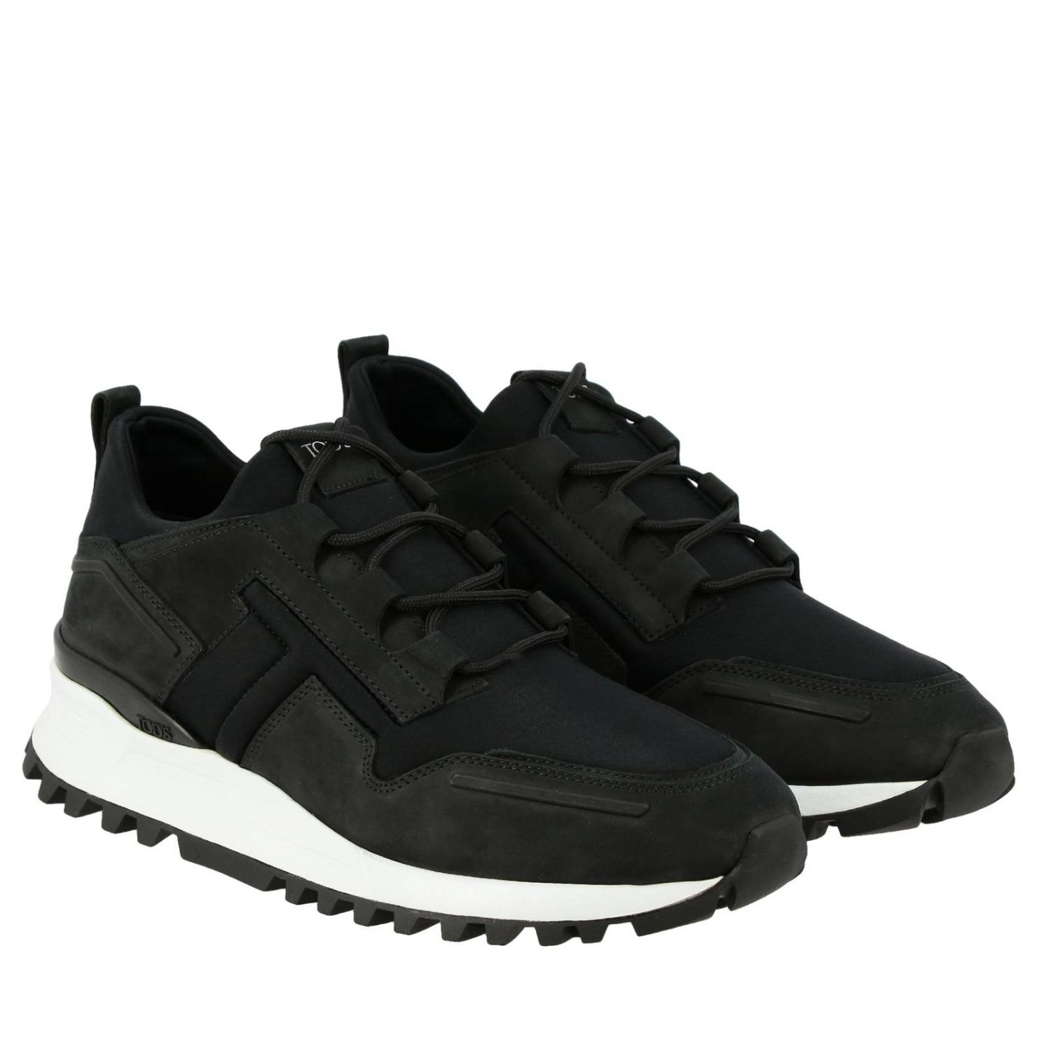 Trainers Tods: Tod's nubuck and neoprene sneakers black 2