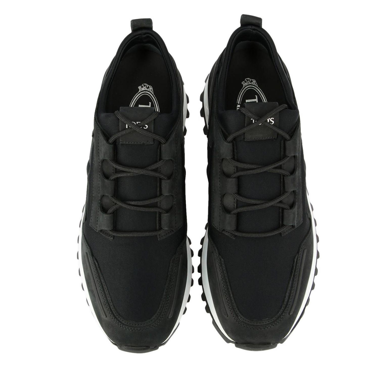 Trainers Tods: Tod's nubuck and neoprene sneakers black 3