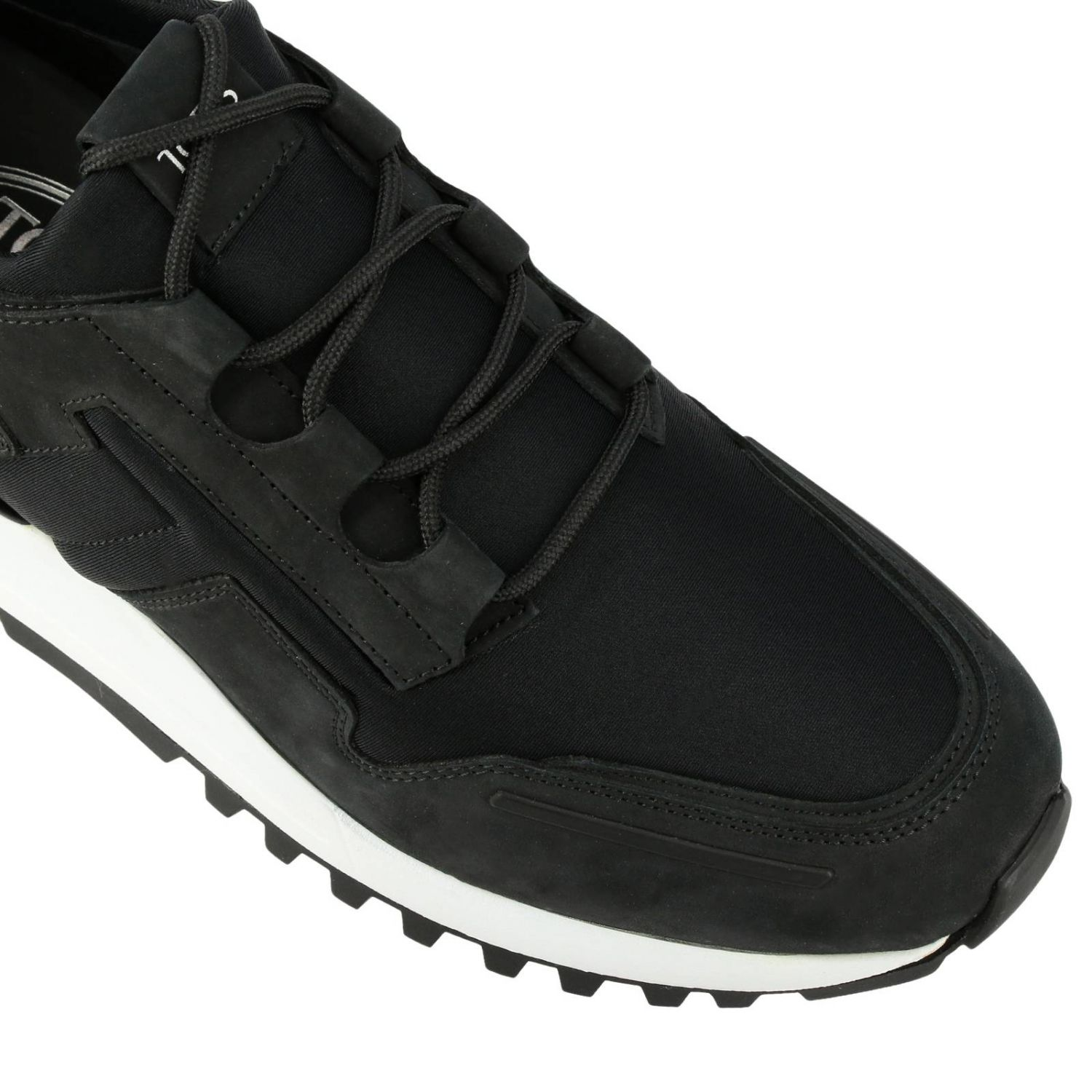Trainers Tods: Tod's nubuck and neoprene sneakers black 4
