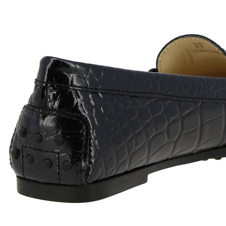Mocassins City Double T Tod's en cuir impression crocodile noir 4