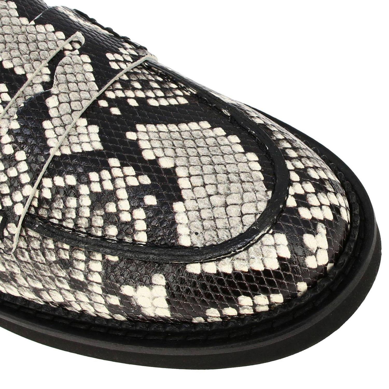 Mocassins Tod's en cuir impression python avec travers et semelle en caoutchouc gris 3